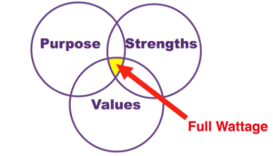 Purpose Strengths Values Circles #fullwattage